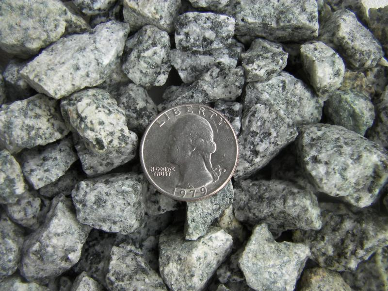 3/4 Inch Black & White Granite Chips with no fines